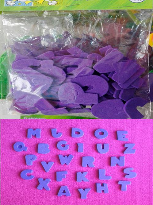 Letras abecedario Figuras en goma eva alfabeto para manualidades