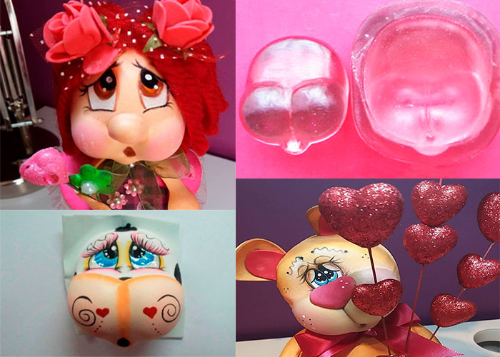 Termoforma para fomy cara de muñeca Cachetona molde inyector de pasta