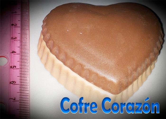 Molde fomy corazon caja dulcera o coffre souvenir amor y amistad foami