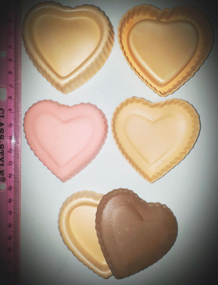 Molde fomy corazon caja dulcera o coffre souvenir amor y amistad