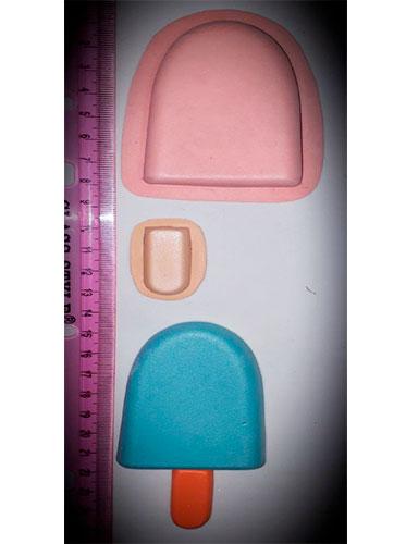 Molde para foami fomy Paleta de agua o helado termoforma goma eva