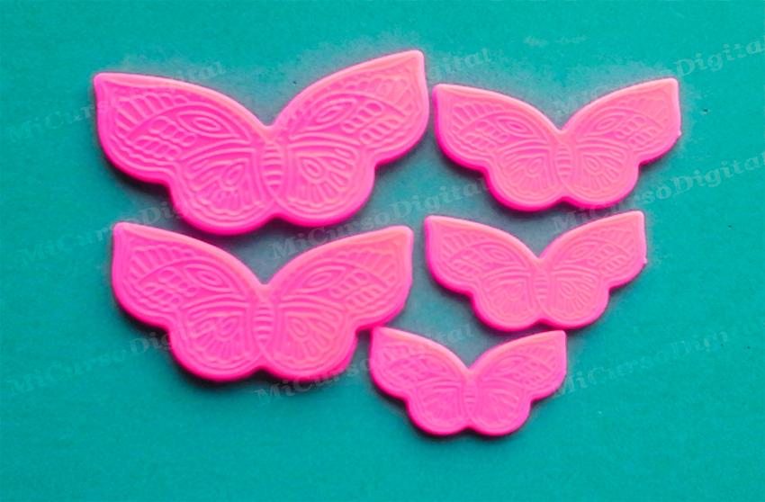 Molde silicona Marcador Mariposas para Porcelana o fondant