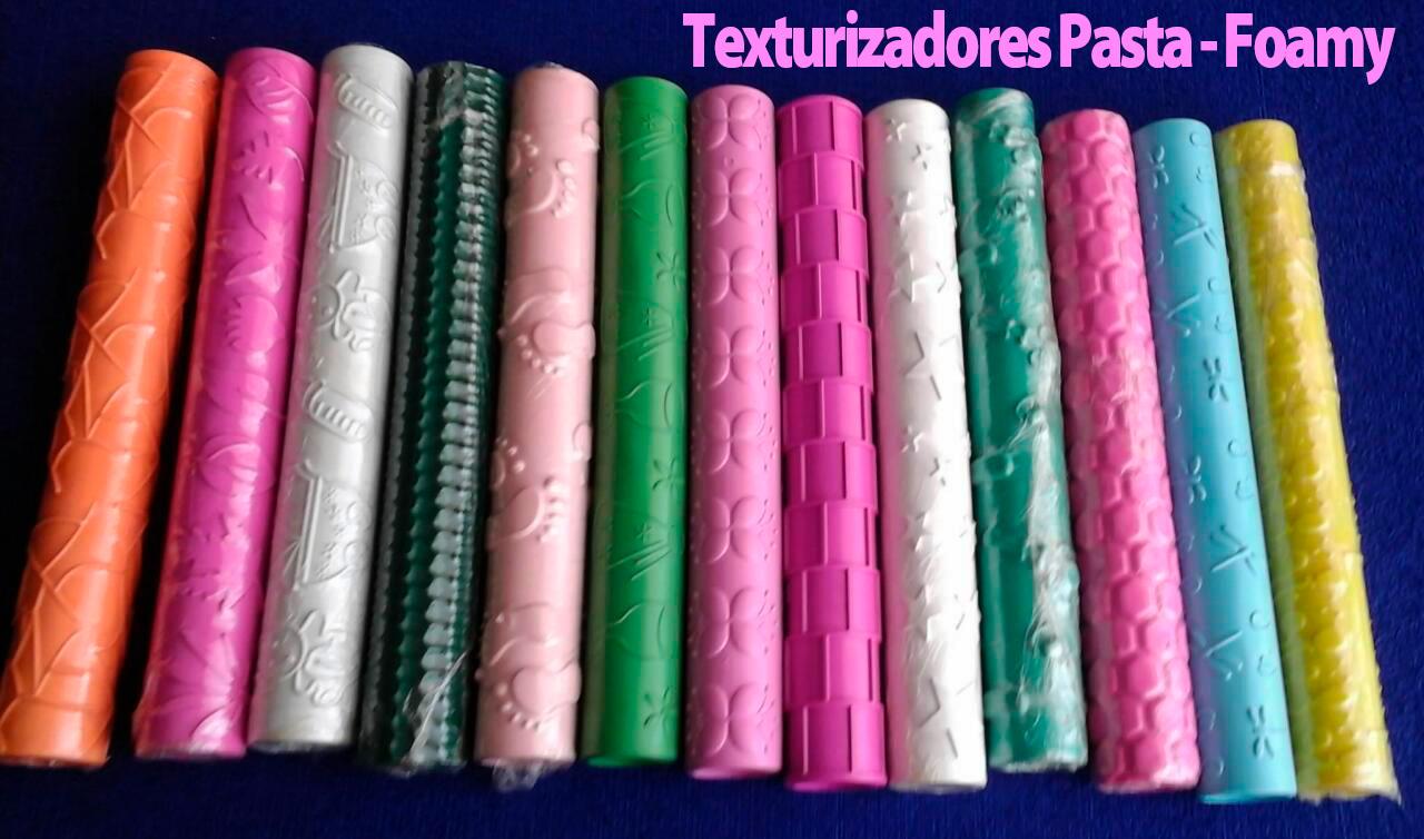 Set Rodillo Surtidos para texturizar foami foamy y pasta flexible