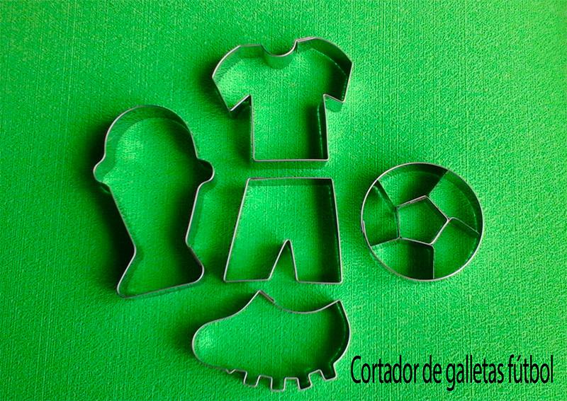 Cortador de galletas futbol balón camiseta copa para decora fondant