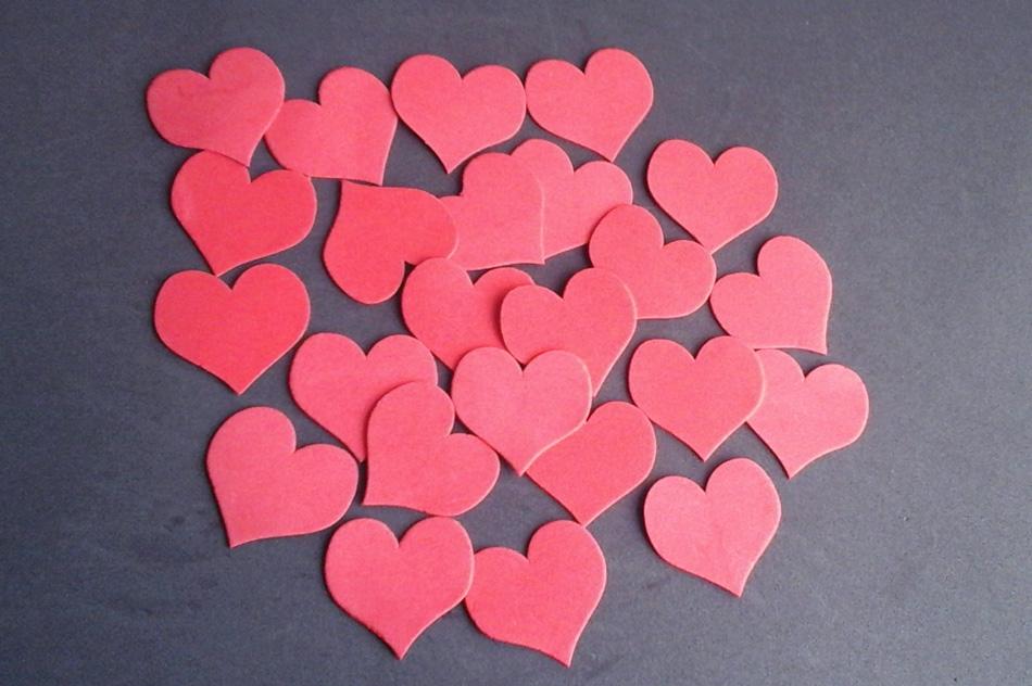 Figuras en fomy set corazón en foamy plano