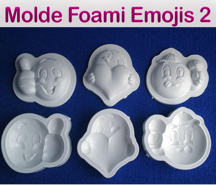 Set Termoforma para Foamy eva Emojis o Emoticón 3D Caras Sonrientes