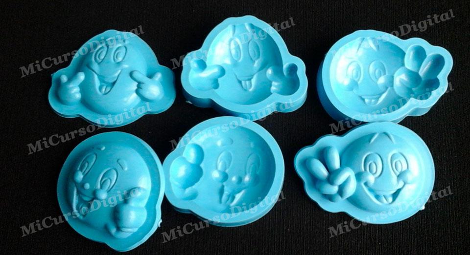 Molde para goma eva foami emoticones no1 crea manualidades 3D
