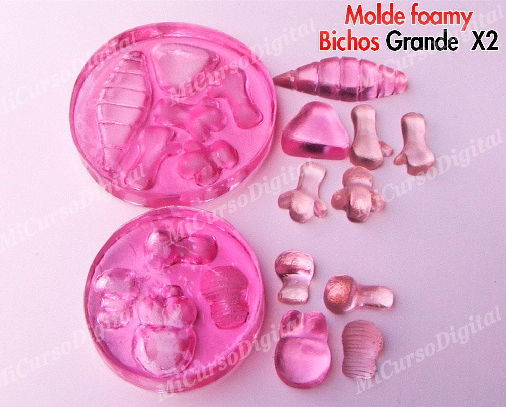 Molde Para Foamy Bichos Inyector De Pasta Flexible O Porcelanicrón