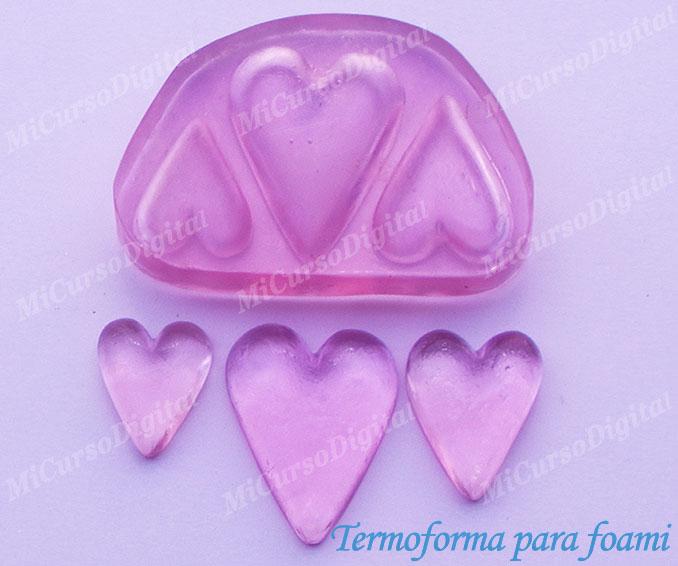 Termoforma Molde Para Fomi Corazón triple e inyector pasta flexible