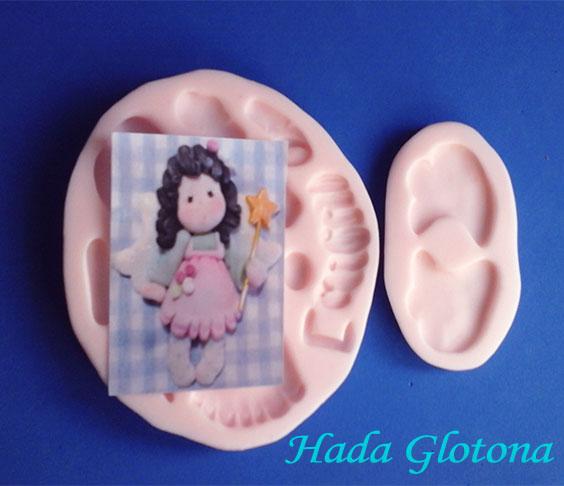 Molde Flexible muñeca o hada Magonolia para foami o pasta fría