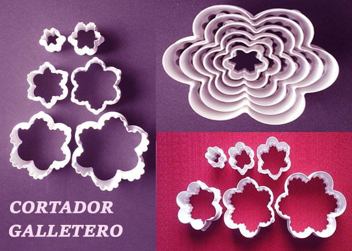 Cortador de flores para fondant y decoración de tortas y pasta fría