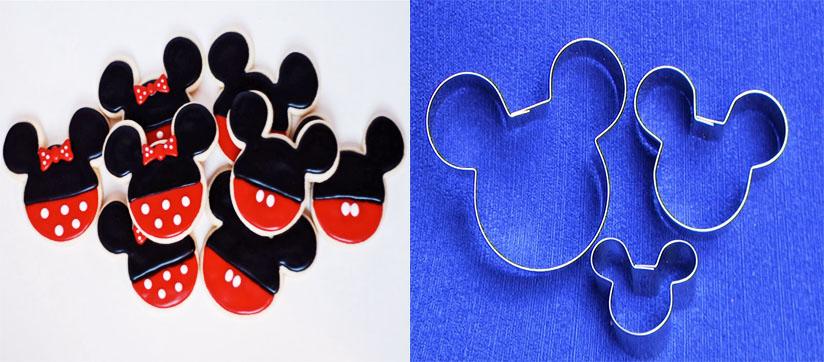 Molde cortador mickey mouse para galletas y decoración pastillaje