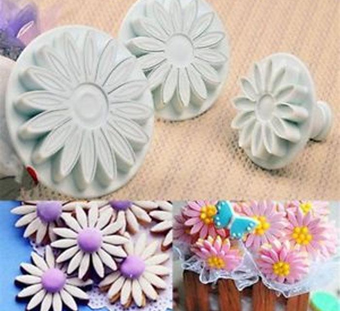 Cortador para fondant flores girasol margarita decora tortas