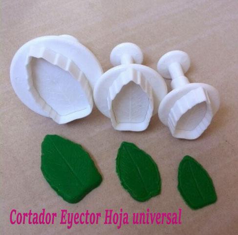 Molde expulsor hoja universal émbolo fondant pastillaje porcelanicrón