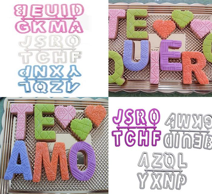 Cortador de abecedario 5 cm para decorar galletas o fondant