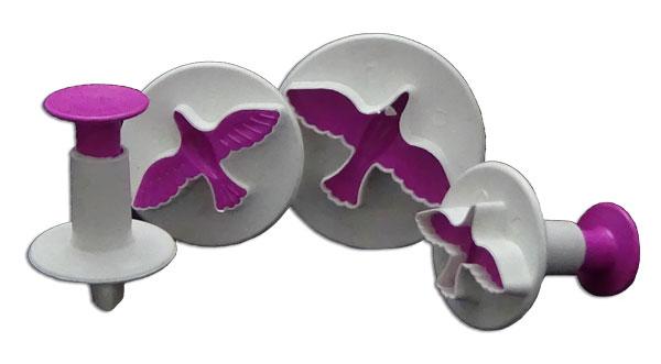 Molde expulsor de palomas para fondant pasta fría pastillaje marcador