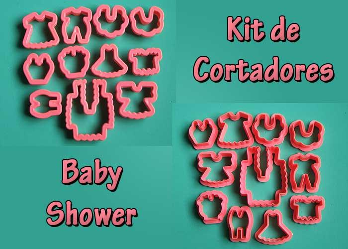 Cortador molde baby shower para porcelana fría fondant galletas