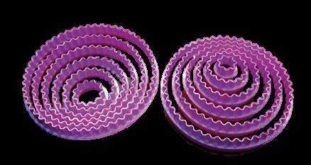 Cortadores redondos doble función corte circular pasta fondant
