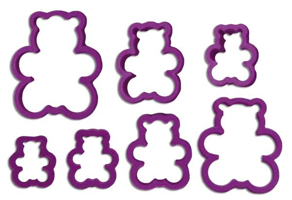 Molde cortador de osos marcador de pasta fondant fomi manualidad