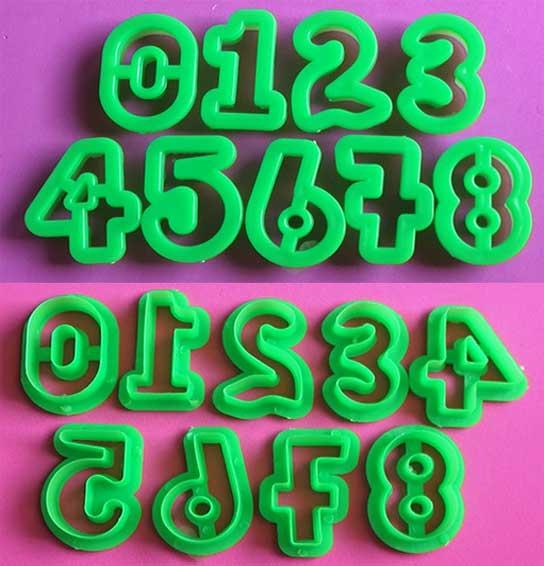 Molde cortador de Números 3 cm modelado pastillaje fondant porcelana