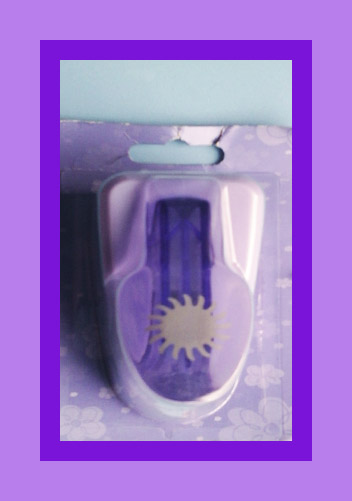 Perforadora para foami Sol  troquel 2 cm para eva y papel