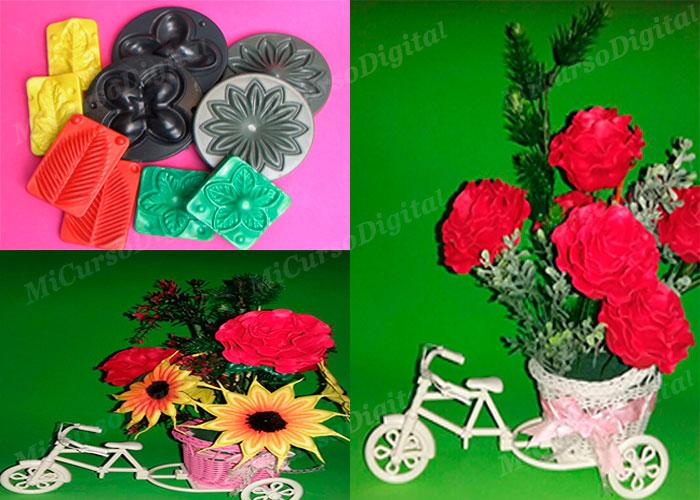 Molde para foami rosa flor navidad hojas modelador de floristería