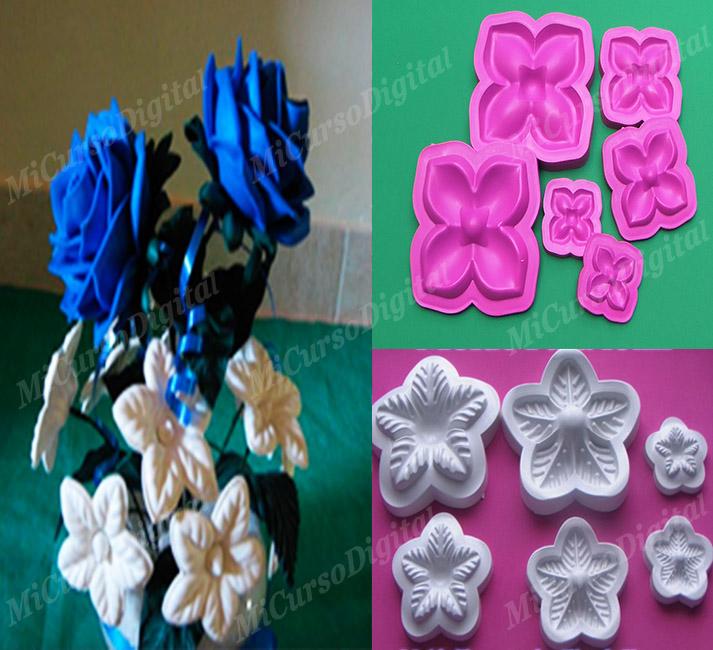 Moldes para floristería navidad rosas y hojas u estrella