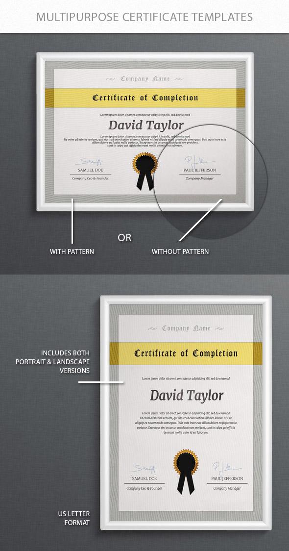 plantillas psd certificados photoshop